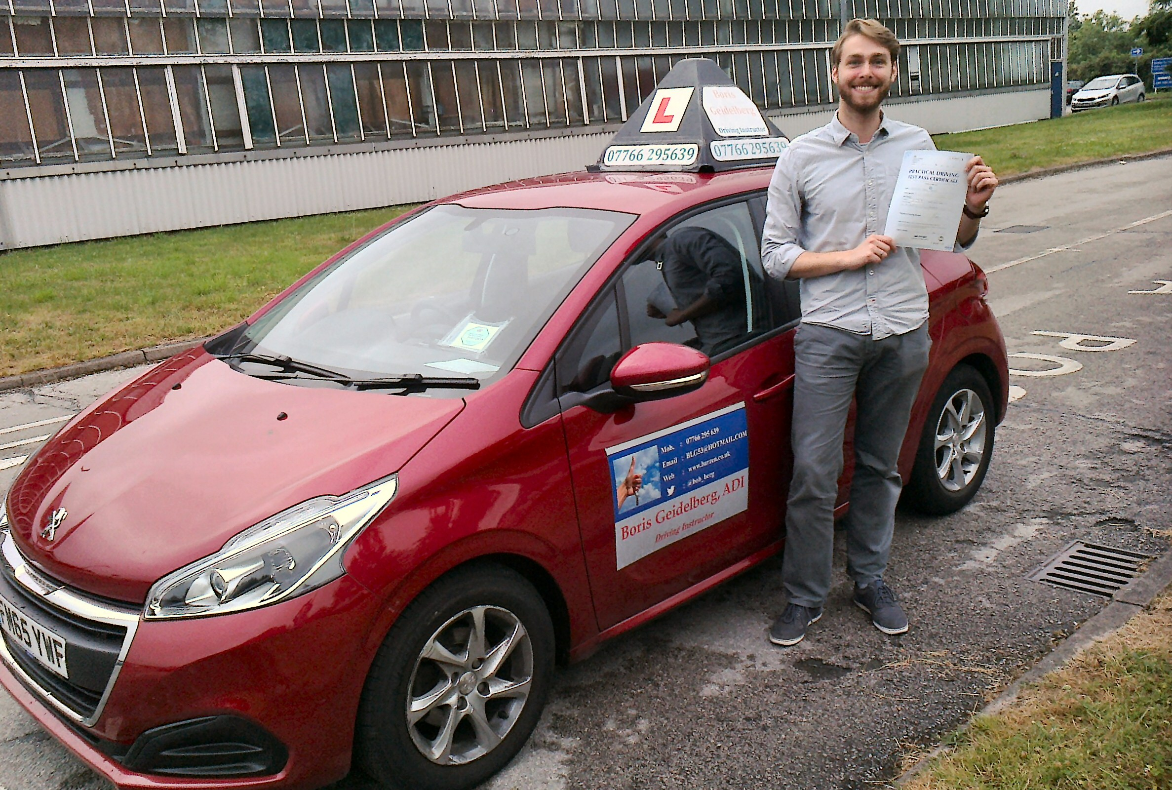 Student of Driving School of Boris Geidelberg Driving Instructor